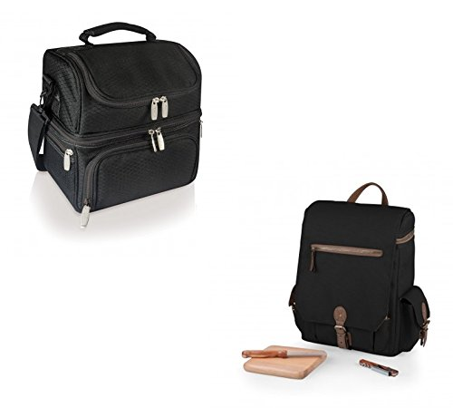 Picnic Time Pranzo Lunch Tote and Moreno 3-Bottle Wine To...