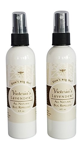Victoria's Lavender Organic All Natural Bug Repellent Spray Pack of 2 Made in Oregon DEET Free 8 Essential Oils Aloe Vera