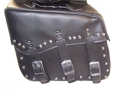 Saddlebags for harley davidson dyna wide glide Cowhide Genuine Leather