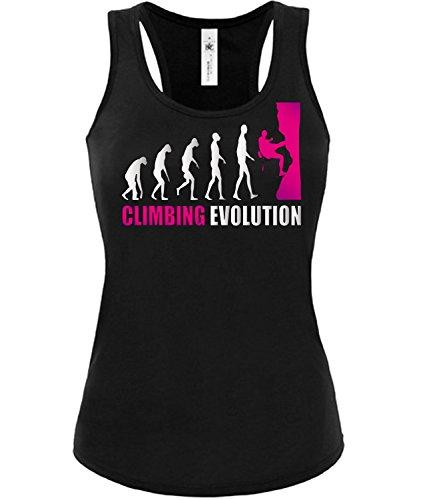 CLIMBING EVOLUTION mujer camiseta Tamaño S to XXL varios colores S-XL Negro / rosa