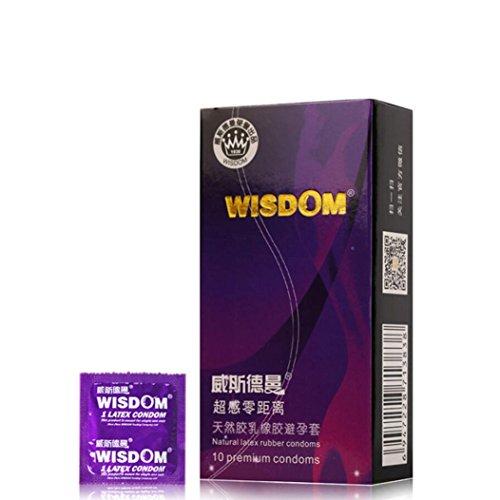 PréServatif En Latex Naturel Winwintom Pack PréServatif Classique Durable Multifonctionnel Ultra-Mince Super TéNacité Hommes Fournitures Latex Condom 10 PCS (B)