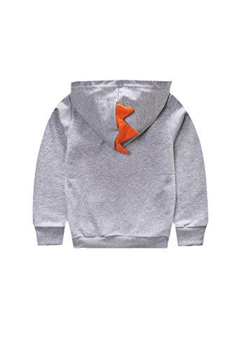 LeeXiang Toddler Boys Full Zip Dinosaur Hoodies Comfortable Sweatshirt