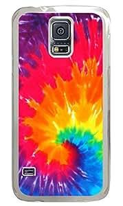 Rainbow Swirl PC Transparent Hard Case Cover Skin For Samsung Galaxy S5 I9600