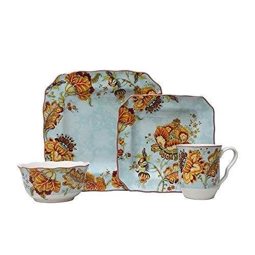 Gabrielle Blue 16 Piece Dinnerware Set ()