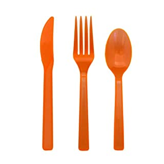 Party Essentials Hard Plastic Cutlery Combo Pack, 51 Pieces/17 Place Settings, Neon Orange (B005WEAAOU) | Amazon price tracker / tracking, Amazon price history charts, Amazon price watches, Amazon price drop alerts