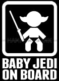 Baby Jedi on Board Die Cut Vinyl Car Decal Wall Sticker