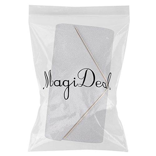 Fête Accessoires Élégante Sac De De Mains Noir à MagiDeal Mode à 1pcs Femmes La Mariage Argenté Soirée nHqxttYTz