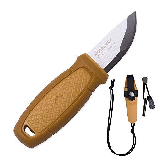 Morakniv Eldris Fixed-Blade Pocket-Sized Knife with Sandvik Stainless Steel Blade, Lanyard and Firestarter, Yellow, 2.2 Inch by Morakniv (Image #7)
