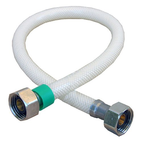 (LASCO 10-2421 Water Supply Flex, Braided Vinyl, 1/2-Inch Female Iron Pipe X 1/2-Inch Female Iron Pipe X 20-Inch)