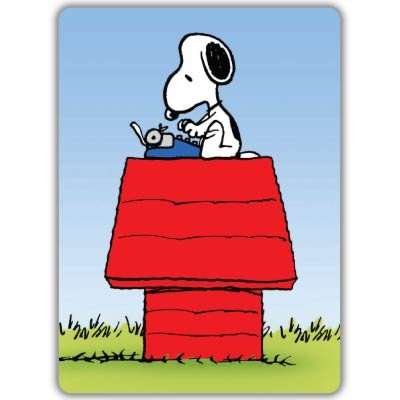 snoopy typing decal - 9