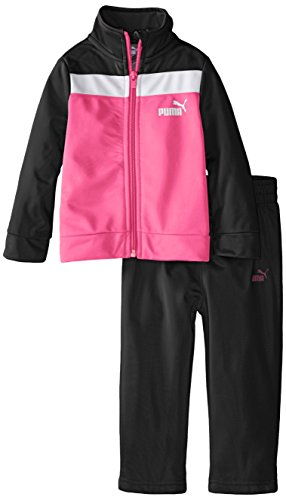 PUMA Baby Girls' Jacket and Pant Tricot Set , Puma Black, 12 Months ()