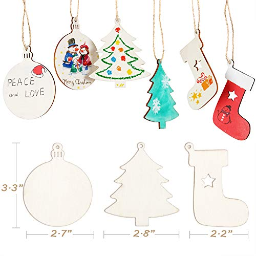 NEW DESIGN Set of 10 laser cut christmas trees unpainted christmas decorations