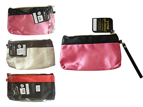 Cosmetic Makeup Bag with Strap Size: 9.25'' x 5.75'' x 1.75'' , Case of 144 by DollarItemDirect