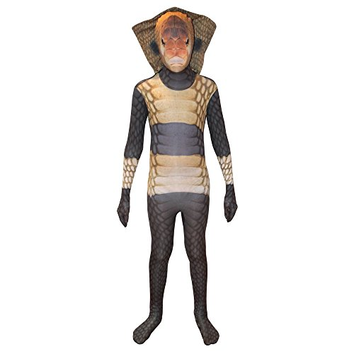 King Cobra Kids Animal Planet Morphsuit Costume - size Medium 3'6-3'11 (105cm-119cm) (Snake Costume For Kids)