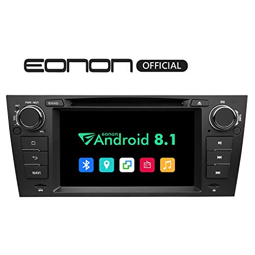 (Eonon Android Auto and Apple Carplay Car Stereo Radio, Android 8.1 Car Head Unit Applicable to BMW 3 Series 2005,2006,2007,2008,2009,2010 and 2011(E90/E91/E92/E93) 7 Inch Support,Fastboot-GA9265B)