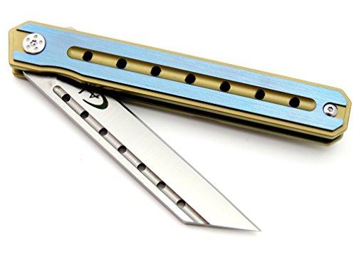 Canku C225 Pocket Knife D2 Steel Blade TC4 Titanium Alloy Handle Knife Camping Outdoor EDC Tool Folding Knives by Canku (Image #7)