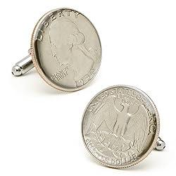 USA Quarter Cufflinks Novelty 1 x 1in