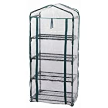 Zenport SH3205 4-Tier Versatile Mini Cold Frame Greenhouse for Protected Patio and Balcony