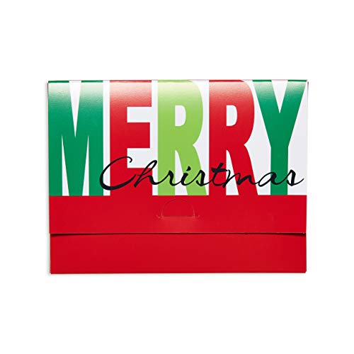 American Greetings Christmas Gift Card Holder, Red Merrry Christmas