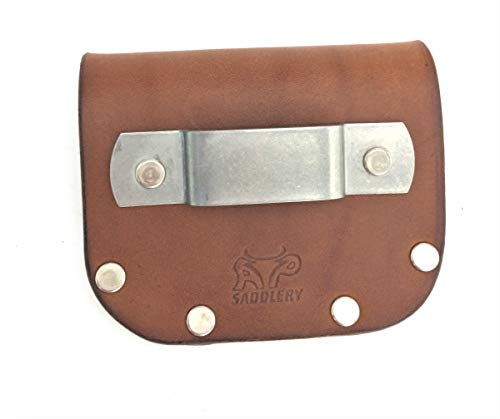 Leather Tape Measure Holder (Dark Brown) (Measuring Tape Belt Clip)