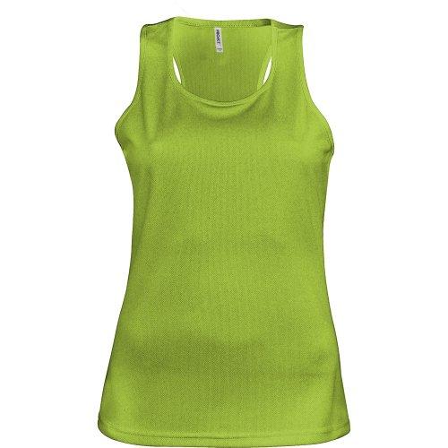 Kariban Proact- Camiseta de deporte de tirantes para chica/mujer Rosa fluorescente