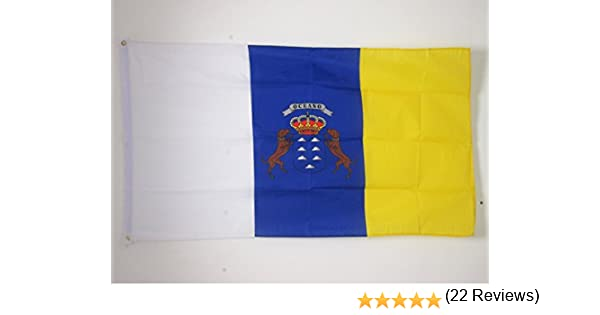 AZ FLAG Bandera de CANARIAS 150x90cm - Bandera Canaria 90 x 150 cm: Amazon.es: Hogar