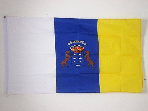 AZ FLAG Canary Islands Flag 3' x 5' - Spanish Region of Canarias Flags 90 x 150 cm - Banner 3x5 ft (Canary Islands Flag)