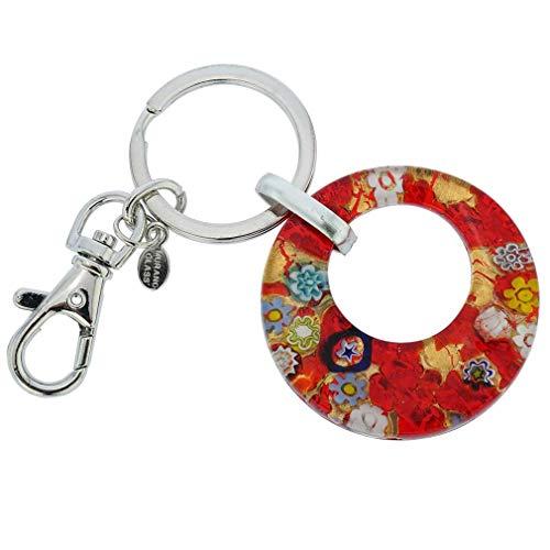 GlassOfVenice Murano Glass Colors Round Keychain