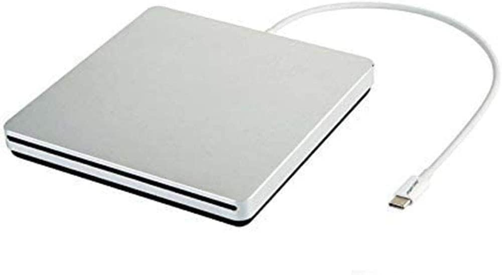 Tengertang usb-c super external drive, portable external CD/ dvd-rw Writer/Player/Burner for the latest macbook/ asus/ asus/ dell latitude/macbook Pro (silver)