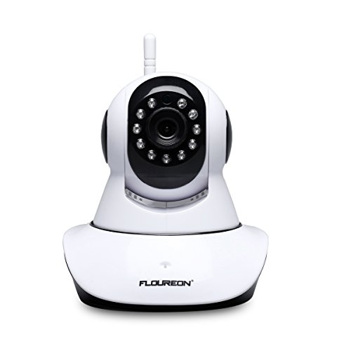 FLOUREON Wireless IP Security Camera ONVIF 720P WiFi IP Camera Pan/Tilt Two-Way Audio & Night Vision Baby/Elder/Pet/Nanny Monitor (Model 2) ()