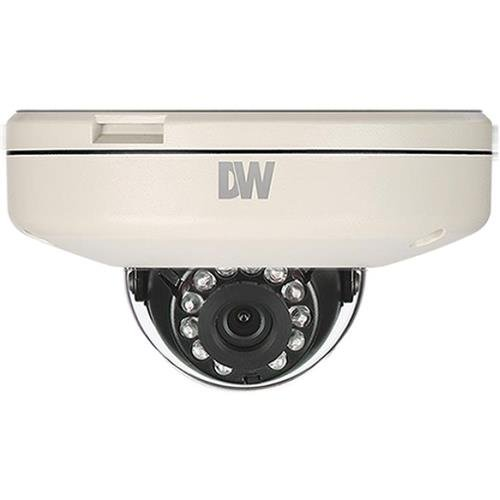 Digital Watchdog DWC-MF21M4TIR 2.1MP Outdoor Day & Night IP Flat Vandal Dome Camera, 4mm Fixed Lens, 1920x1080, 30fps, 30' Smart IR, H.264, MPEG4, MJPEG, OnVIF compliant, - Digital Camera Watchdog Dome