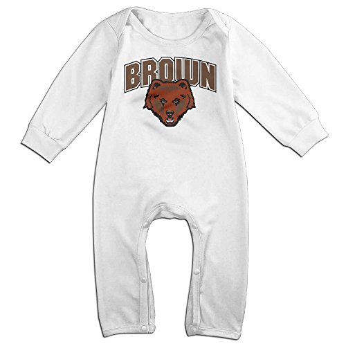 [Dadada Babys Brown University Bear Long Sleeve Bodysuit 24 Months] (Baby Golfer Costume)
