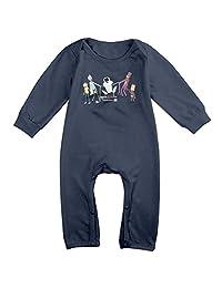Kids Rick And Morty Logo Baby Bodysuit Little Boys Girls 100% Cotton Long Leg Rompers
