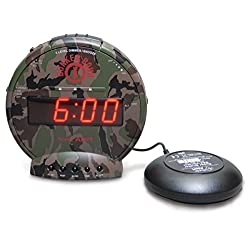 Sonic Alert Extra Loud Bunker Bomb Alarm Clock with Super Shaker - SBC575SS