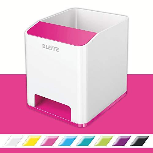 Leitz Cubilete Sound, Amplificador de sonido para teléfono, Blanco/Rosa metalizado, WOW, 53631023