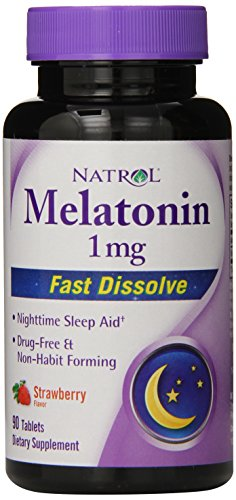 Natrol Melatonin Fast Dissolve Strawberry Tablets,…