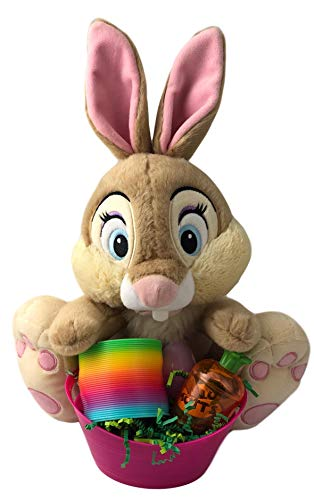 Easter Basket For Girls Pre Filled Chocolate Bunny Plush Thumper Bunny Age 4 ()