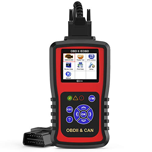 Kzyee KC301 Code Reader, Car OBD2 Scanner with Live Data/Emission Monitor Status/O2 Sensor Data/Mode 6, Diagnostic Scan Tool for Check Engine Light Reset