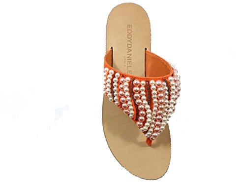 Zapatos Mujer EDDY DANIELE 37 Sandalias Naranja Textil AW242/AW243