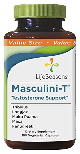 Life Seasons - Masculini-T - Testosterone Booster Supplement for Men - Enhance Male Performance, Stamina, and Energy - Feel Young Again - with Ginkgo, Ginseng - (180 Capsules)