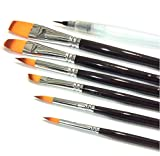Long Handle Artist Paint Brushes - Set of 6 - Professional Quality. Use...