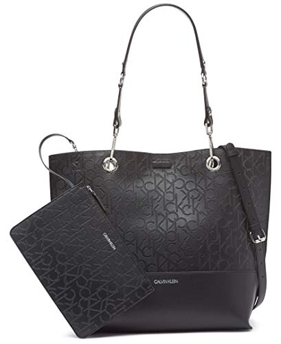 Calvin Klein Sonoma Double Handle Signature North/South Tote with Removable Wristlet Pouch