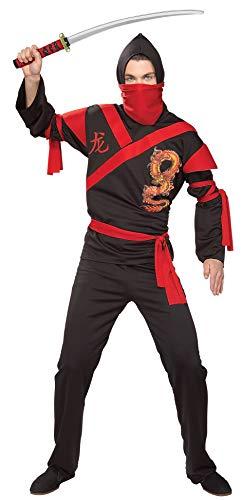 Rubie's Men's Dragon Ninja Warrior Costume, As Shown, One Size