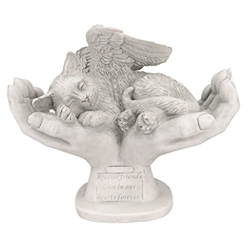 Design Toscano In God's Hands Cat Memorial Statue For Sale