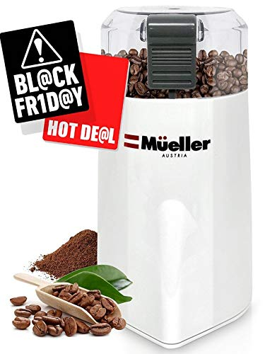Best Buy! Mueller HyperGrind Precision Electric Coffee Grinder Mill with Large Grinding Capacity and HD Motor also for Spices, Herbs, Nuts, Grains and More