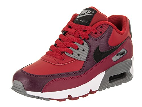 Nike Kid's Air Max 9 Leather Big Kids (GS) Shoe Gym/Red/Black/Noble/Red