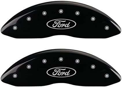 MGP Caliper Covers 10239SFRDRD Red Powder Coat Finish Front and Rear Caliper Cover Set of 4 Oval logo//Ford Silver Characters, Engraved