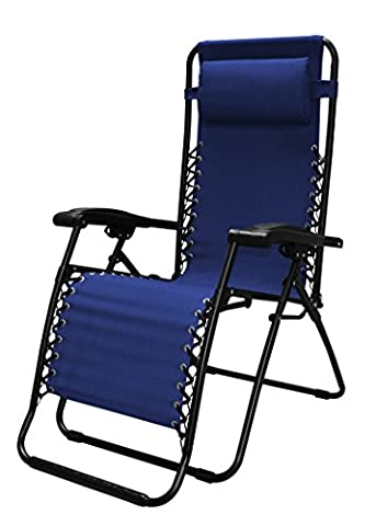 Caravan Sports Infinity Zero Gravity Chair, Blue - Sports And Outdoors