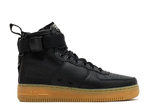 SF Air Schwarz Herren Gum Hell Nike Sneaker Mid 1 Braun Schwarz Leder Force Textil fS5ywxT