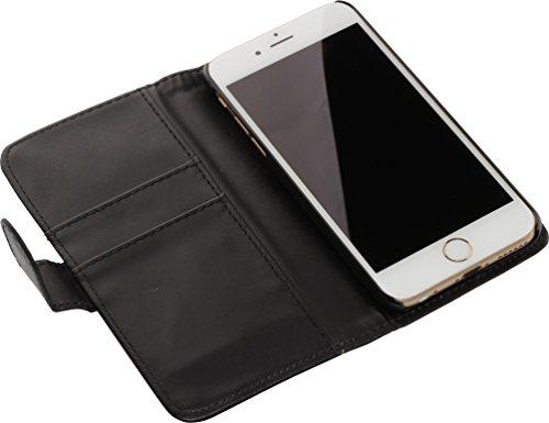 nandu™ iPhone 6 / 6S Hülle - hochwertiges Case mit Standfunktion und Magnetverschluss, schwarz